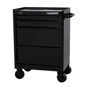 27 in. 4-Drawer All Black Tool Cabinet-H4TR2R at The Home Depot  This would be a great alternative to the Homak boxes.  I also like the deep drawers on this one.