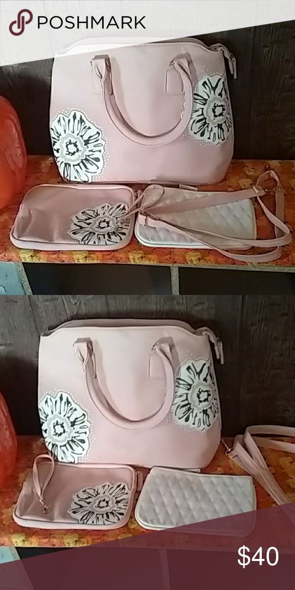 Finger Hut light pink handbag It can be used as a handbag or a purse with zebra … – Purses On Sale
