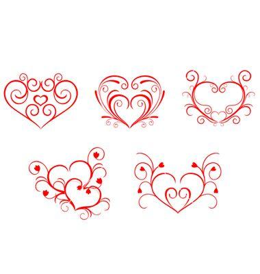 Free Vector | Valentine hearts vector 118370 - by Seamartini on VectorStock®