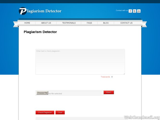 our site Plagiarism Detector