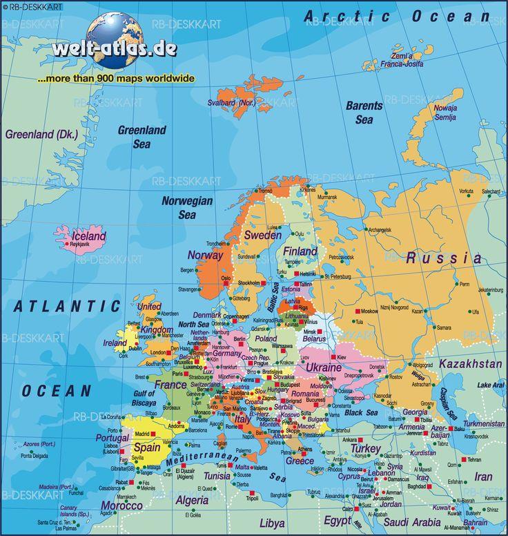 Europe Map Malta