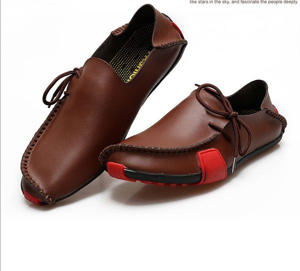 Wish | New Summer&Autumn Fashion Mens Casual Genuine Leather Flats Driving Moccasins Slip On Men Boat Shoes