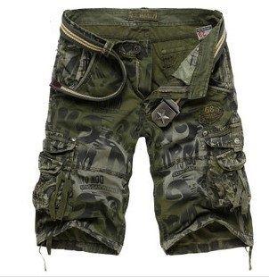 Мужской лето мода хлопок холст камуфляж брюки-карго джинсовые шорты людей камуфляж военная сват шорты мужчин свободного покроя тренировки спортивные шорты