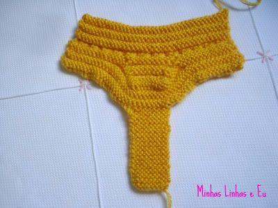Receita de sapatinho para bebê em tricot - pap sapatinho sanfonado (ou com gominhosa