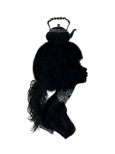 teapots.: Teas Time, Girls Generation, Illustrations, Charmain Olivia, Silhouette, Teas Pots, Art, Posts, Teapots Hats