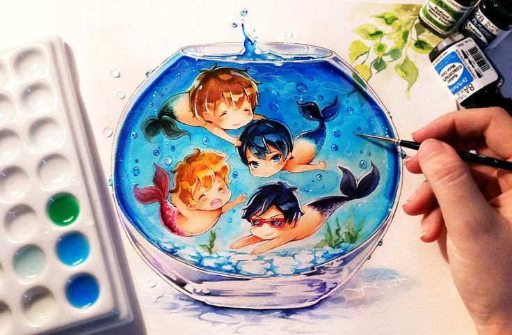"""Fish for Free"" by Naschi. Source: http://naschi.deviantart.com/"