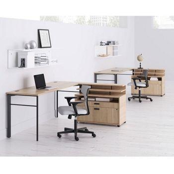 two person desk set