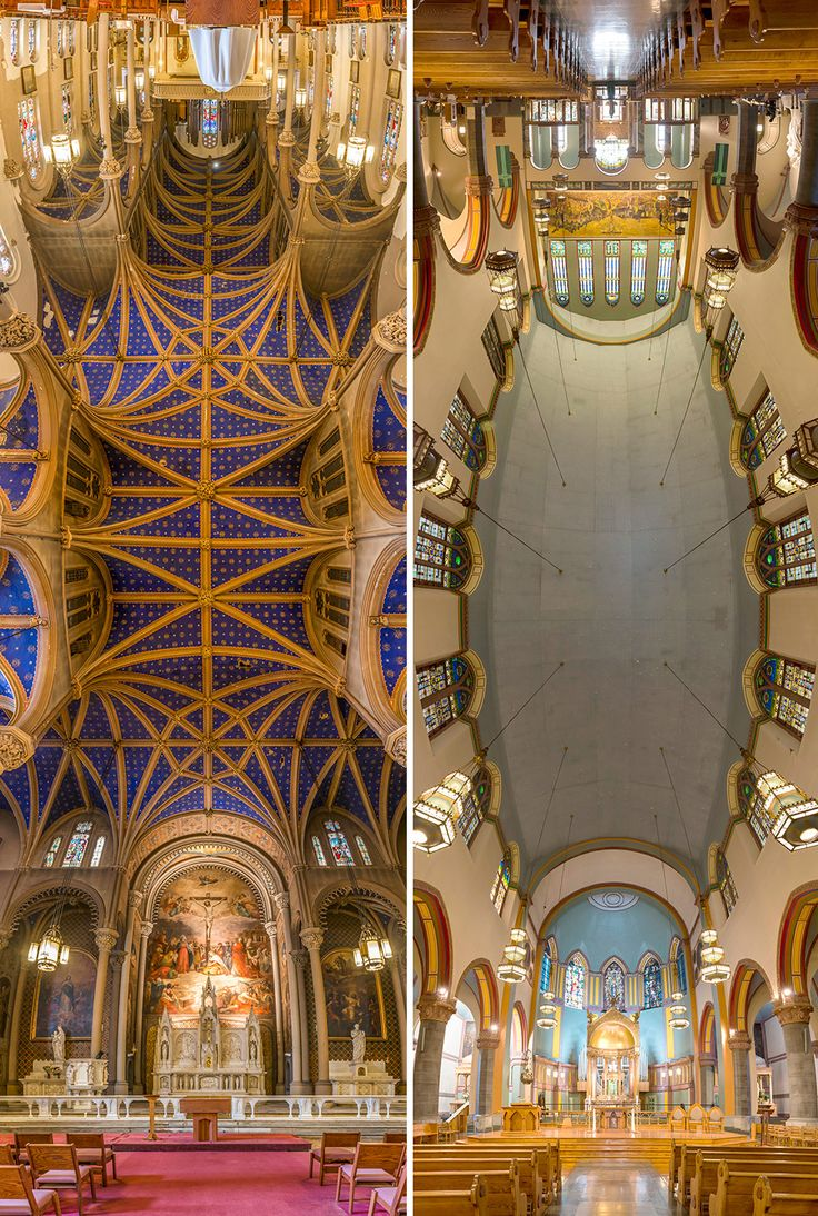 Vertical Panoramic Photographs of New York Churches by Richard Silver