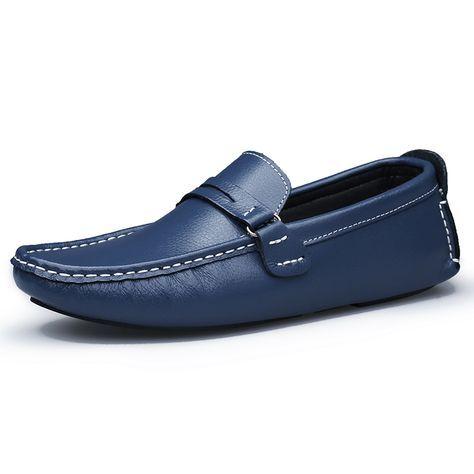 Cheap Hecho A Mano de cuero genuino Hombres Zapatos Mocasines Planos de Los Hombres Casuales de Diseño hombre Zapatos de Conducción de Cuero Inferior Suave Zapatos de Tamaño 45 46 47, Compro Calidad Pisos de los hombres directamente de los surtidores de China: nos dimos cuenta de que si no hay ninguna caja, los zapatos pueden ser más rápido a través de la aduana,así que enviamos