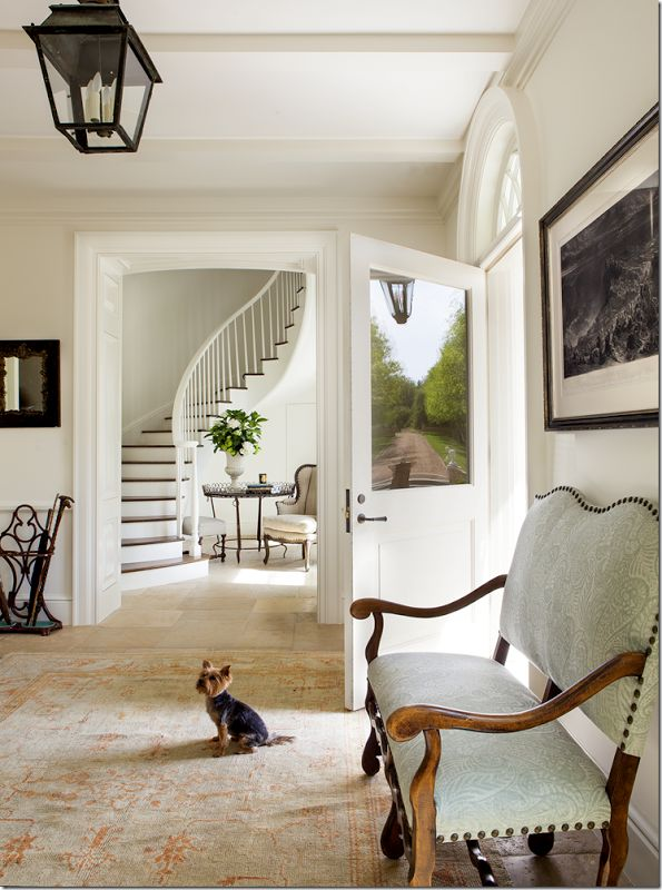 Ginger Barber interior design | fabulous pale entry in a land that never sees snow haha!