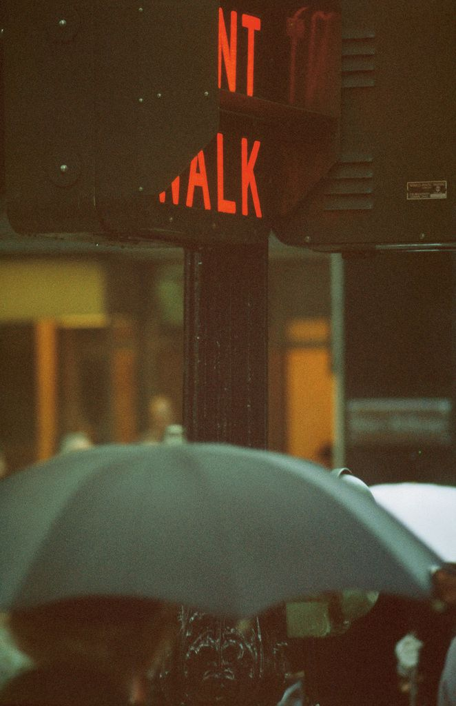 by Saul Leiter Don´t Walk, 1952