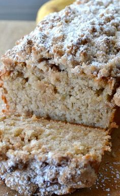 Cinnamon Crumb Banana Bread maybe an update to my traditional recipe yummy double crumb topping if doing muffins.