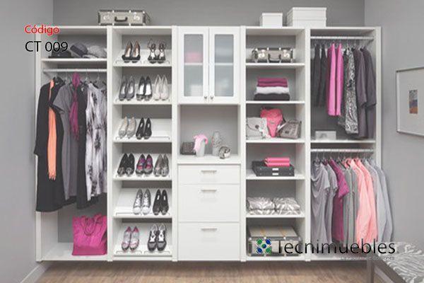 Closet abierto y suspendido tipo a reo vestidores for Diseno zapateras para closet