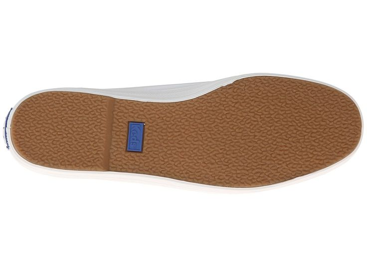 Keds Champion-Leather Slip-On Women's Flat Shoes White Leather