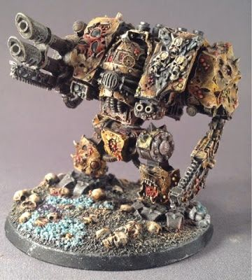 Chaos Dreadnought From A Very Worthy Nurgle Space Marine Army In The Underused Color