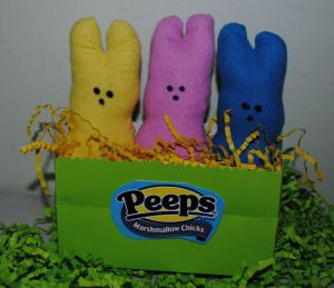 85 best easter sewing projects images on pinterest easter crafts how to make fabric peeps that look just like the real marshmallow candy peeps negle Images