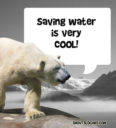 saving water is great