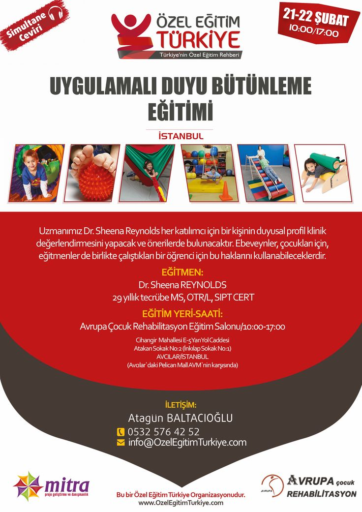 Uygulamalı Duyu Bütünleme Eğitimi   Özel Eğitim Türkiye