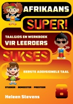 Our Super!Sukses Afrikaans (EAT) Taalgids en Werkboek is CAPS compliant and will ensure a sound understanding of the grade 8 syllabus. It is suitable for classroom and distance learning and supports group and independent study.