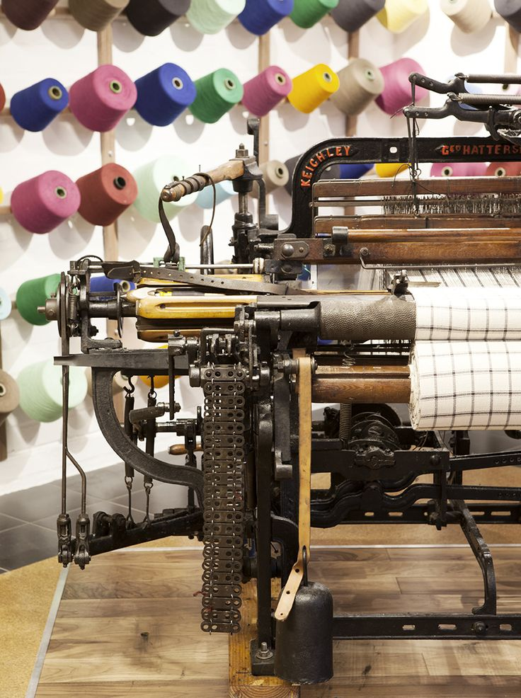 Hattersley Domestic Loom at the Mungo inner city Micro-Mill in Cape Town