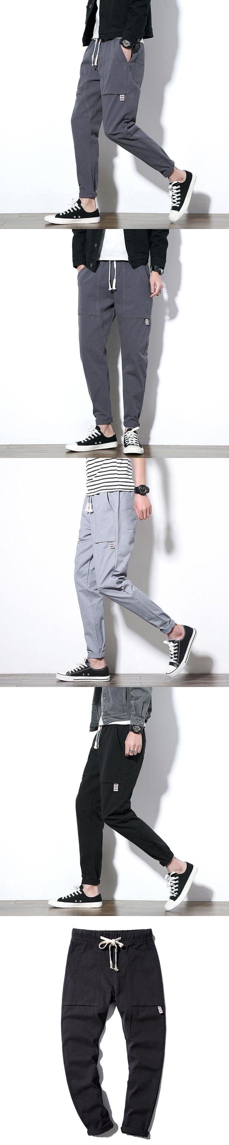 Japan Style Pants Men 2017 Autumn New Pocket Design Harem Pant Boys Plus Size Casual Loose Trousers Mens Pantalon Hombre 5XL-M