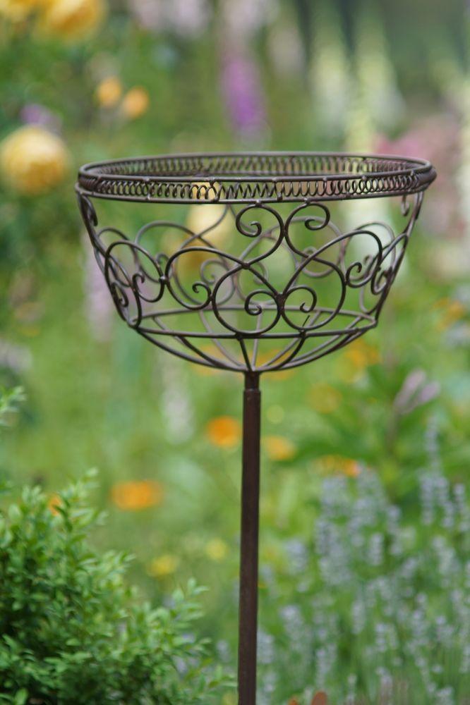 Steckkorb Korbstecker Pflanzkorb Antik Stil Gartendeko In Garten U0026 Terrasse,  Dekoration, Gartenfiguren U0026