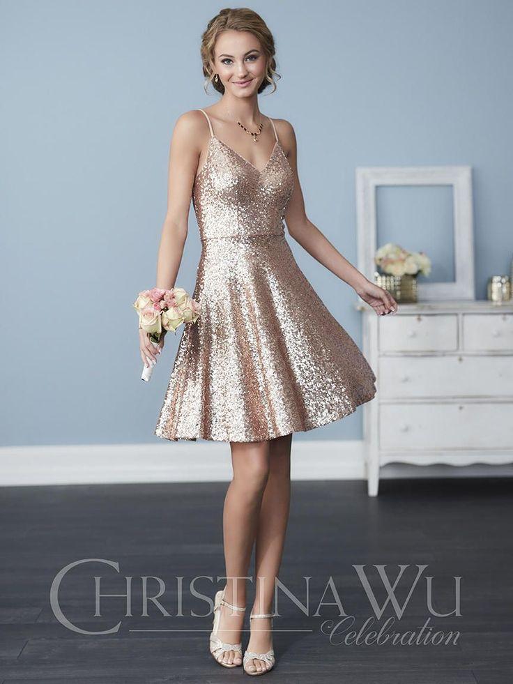 Christina Wu Celebration 22761 Short Sequin Bridesmaid