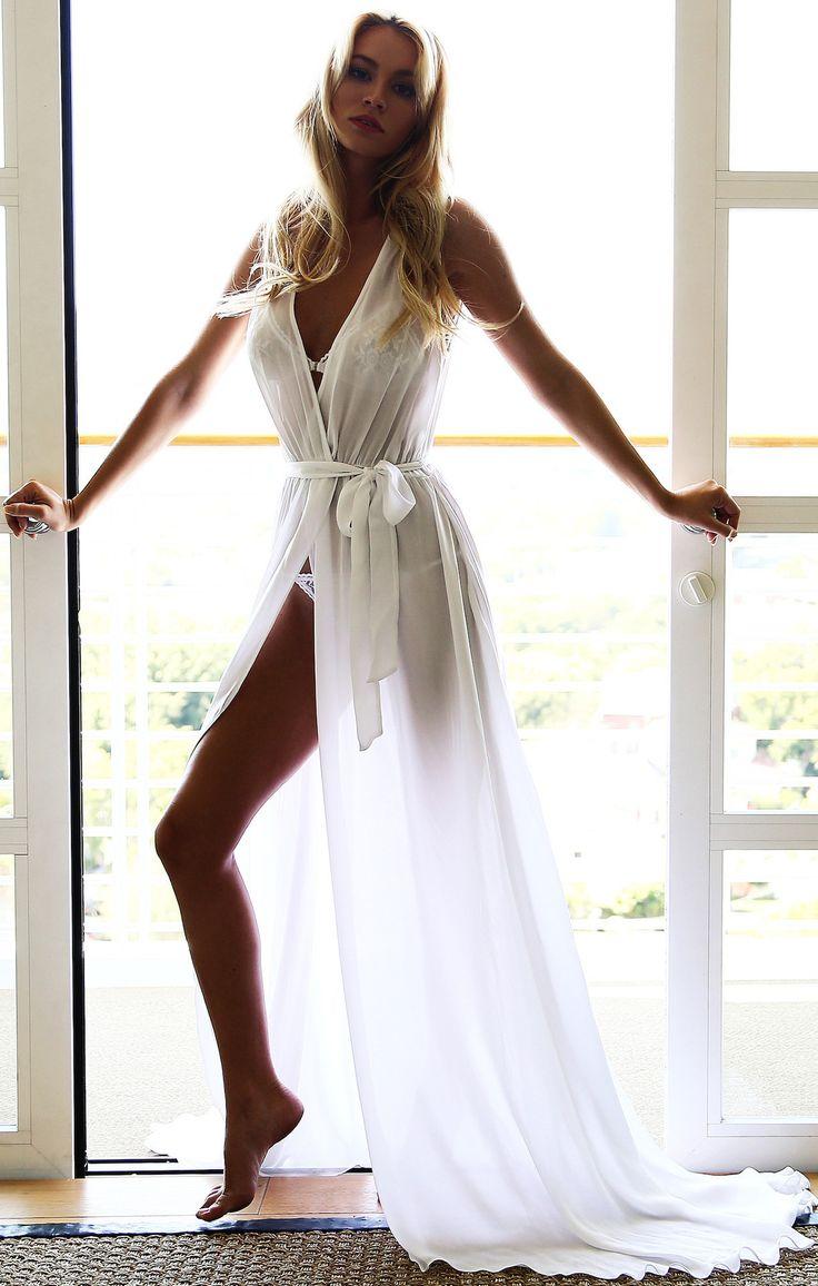 Women's V Neck Sleeveless Tie Waist Slit Chiffon Dress