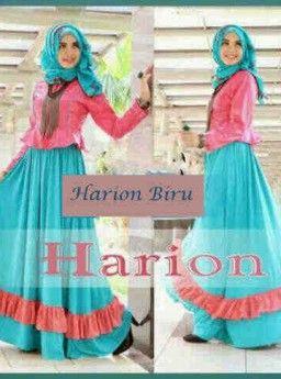 Baju Maxi Harion Blue Dan Pashmina R807, Ready Stok, Untuk pemesanan dan informasi silahkan hubungi admin di SMS/WhatsApp: 085259804804