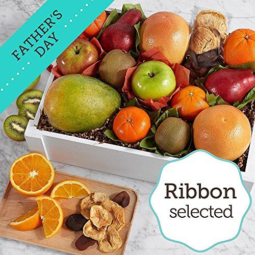 Sharis Berries  Organic Fresh  Dried Fruit Crate with Fathers Day Ribbon  1 Count  Gourmet Baked Good Gifts ** Click the VISIT button to find out more