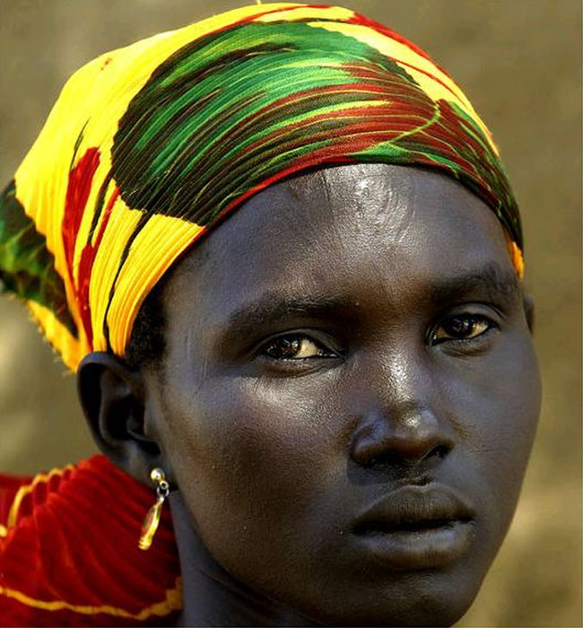 Dinka woman from the Sudan: