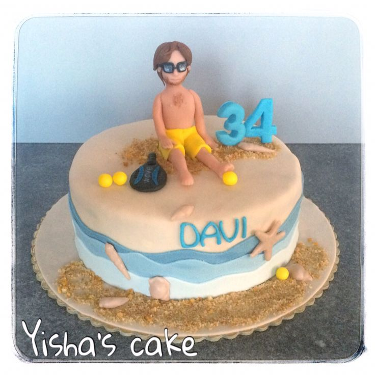 beach tennis cake