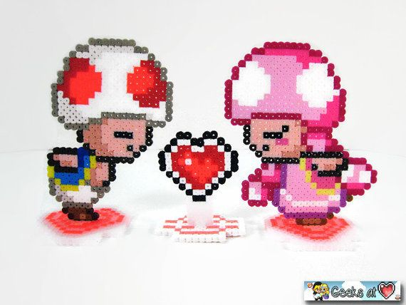 Toad And Toadette Cake Topper