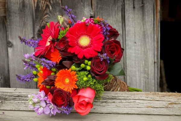 Va-voom...bold bouquet by Creative Muse Floral Designs