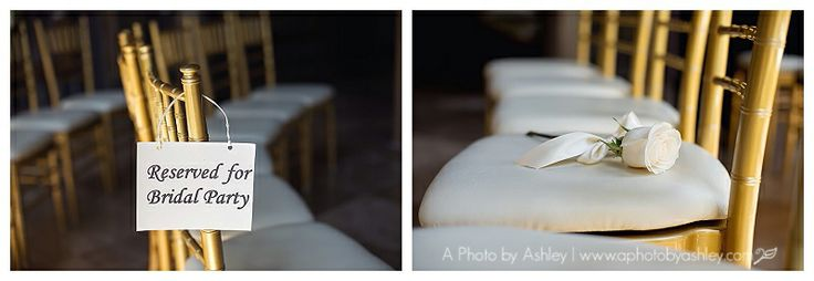 The Proximity Hotel | Classy North Carolina Wedding | Greensboro,NC Wedding Photographer | Round Seating | Circle Seating | Mom's Seat | In Memory Of | Reserved Sign