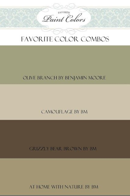 Like this combo also - walls could be one of the tans, accent wall in the dark, kitchen or bedroom in green color...