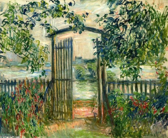 Claude Monet - The Garden Gate at Vetheuil