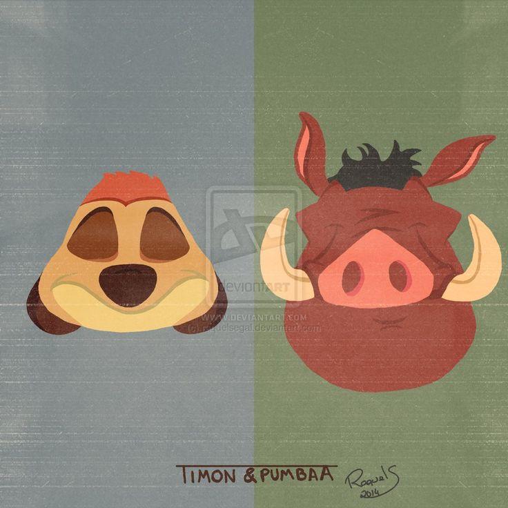 Timon And Pumbaa - Minimalist Poster