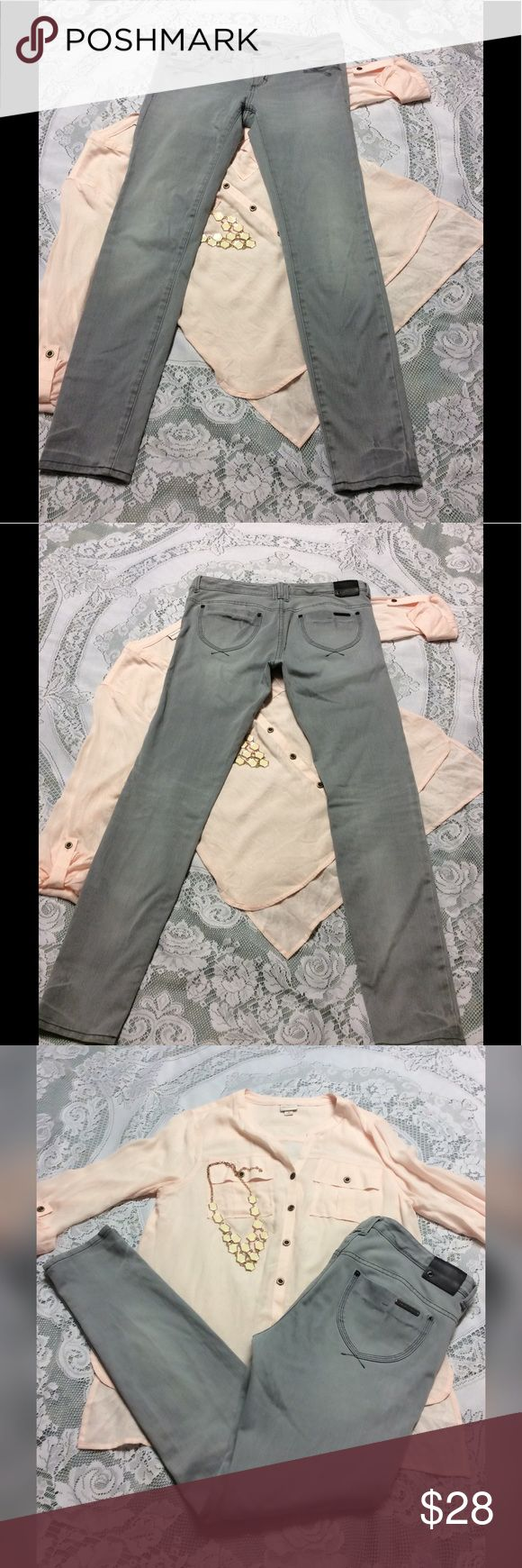A|X Armani Exchange Grey Jeans A|X grey skinny jeans. Features unique pockets and amazing fit. In great condition with slight stonewashed look. A/X Armani Exchange Jeans Skinny