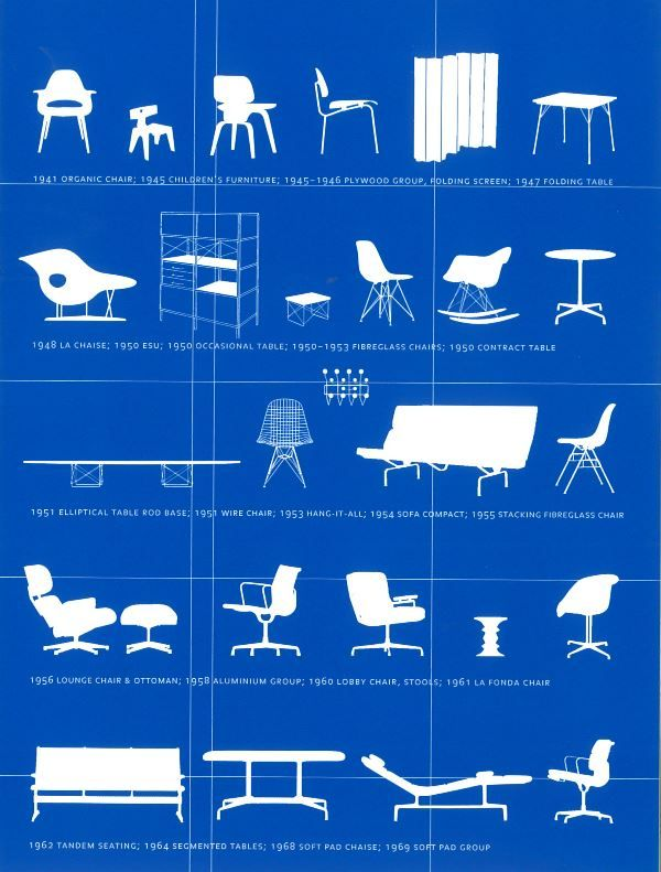 106 best design stoelen images on pinterest folding chair design and dining chairs - Eames meubels ...