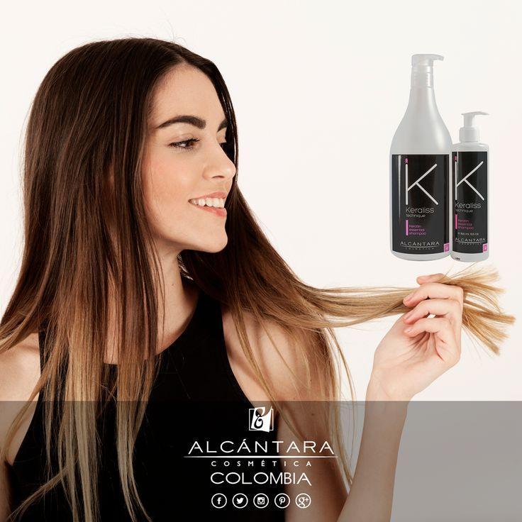 #KeralissTechnique Shampoo de queratina, que aporta resistencia y flexibilidad a la fibra capilar.  Informes y ventas. >> ☎ +57 320 462 7859