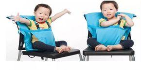 silla para comer bebe de tela portatil con arnes de seg.