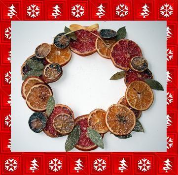 Decorazioni Natale ghirlanda di frutta fai da te