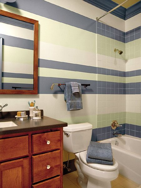 Best 20 Striped Bathroom Walls Ideas On Pinterest