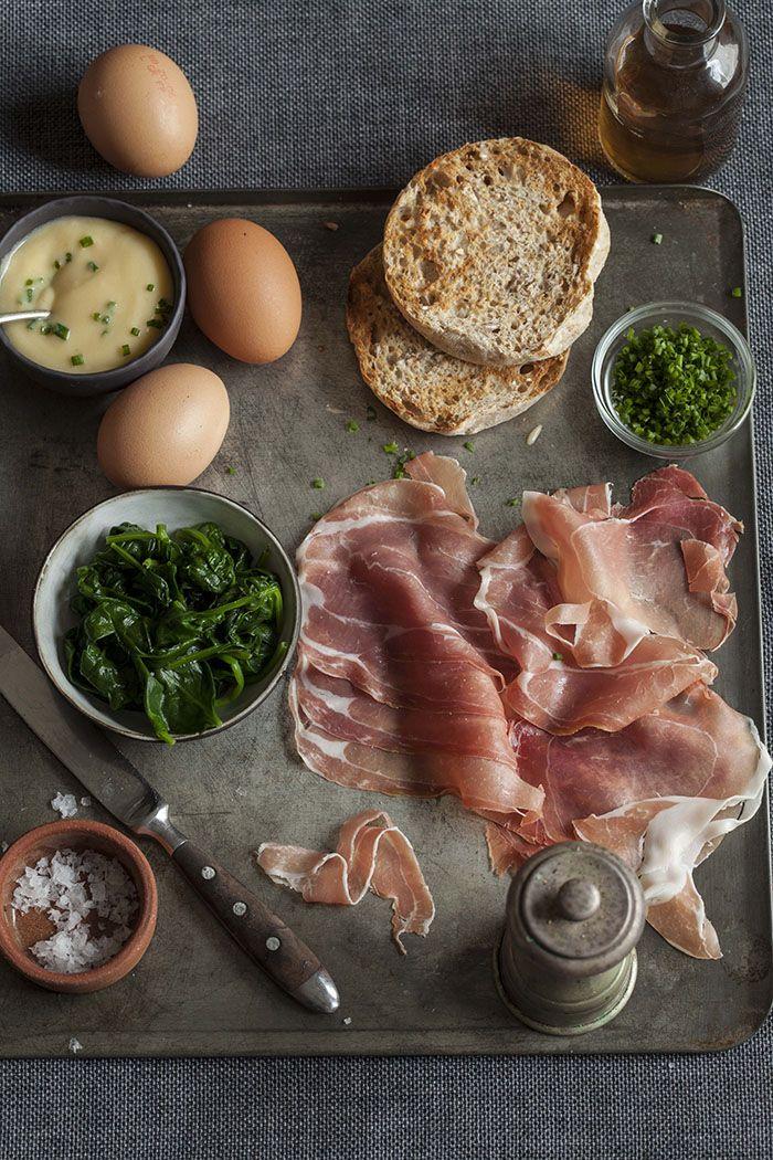classic egg benedict ingredients #recipe
