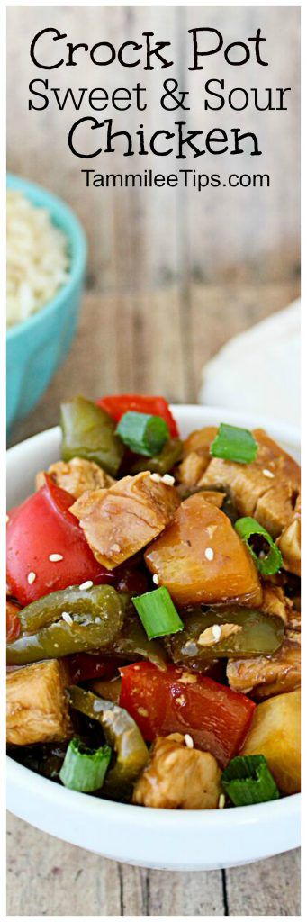 Easy Crock Pot Slow Cooker Sweet and Sour Chicken Recipe the family ...