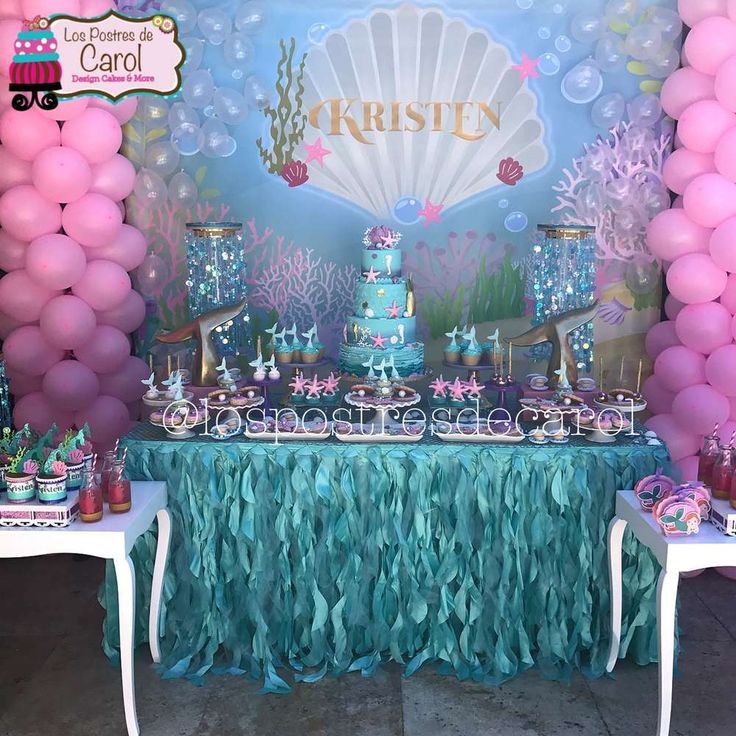 Kristen Mermaid Party | CatchMyParty.com