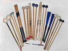 #Percussion instrument - Wikipedia, the free encyclopedia - Percussion beaters and sticks