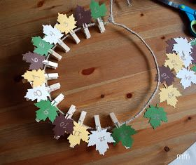 MirandaMade: Thanksgiving Countdown Wreath