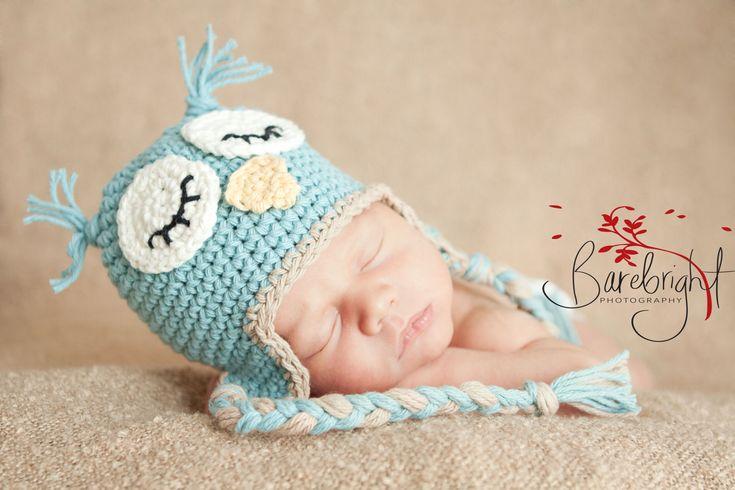 Owl Hat Pattern baby hat Pattern crochet Newborn to 12